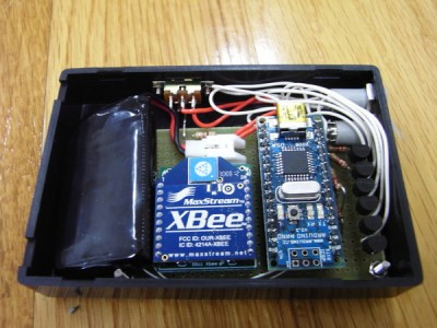 LEDコントローラ。Arduino + XBee + Battery
