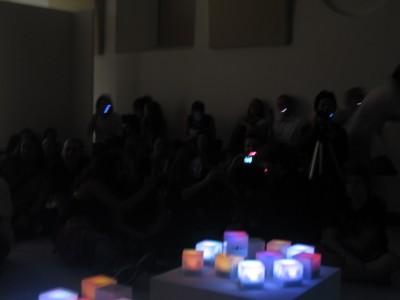 口LEDライブ。キューブはやはりライブでは厳しかった。。